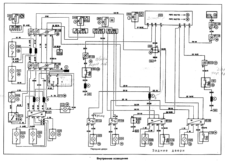 электропроводка рено 19